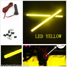 Yellow 17cm COB LED Car Accessory Interior Decorative Atmosphere Light & 3M Clip