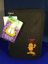 Vtg Garfield the Cat PAWS Student Day Planner Black Cloth Zipper Case Mead NWT