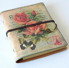 Leather Travel Journal Vintage Style Notebook Scrapbook Photo Album Keepsakes
