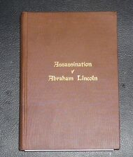 ASSASSINATION OF ABRAHAM LINCOLN  Author signed 1917 edition H oldroyd