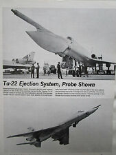 2/1972 ARTICLE 1 PAGE TUPOLEV TU-22 BLINDER EJECTION SEAT SYSTEM ESCAPE SYSTEM