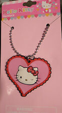 "Sanrio Hello Kitty Charm Necklace EMO PUNK  Easter Birthday 2""w1 3/4""t Alter Art"