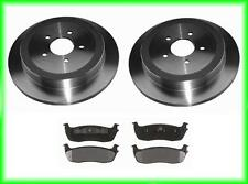 03 06 Lincoln Town Car Limo Rear Brake Rotors and Pads