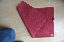 Pack of 3 Golf Towels Burgundy Silver Chain 500x300 100% cotton 550gsm