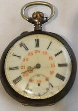 Antique Swiss? Pocket Watch 15s 800 coin Silver parts/repair/ticking/Steampunk