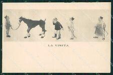 Militari Cavalleria Umoristica ABRASA cartolina QT7942