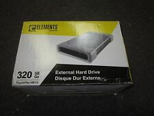 New Western Digital Elements 320 GB External 7200 RPM (WDE1U3200N) Hard Drive