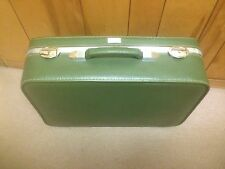 Vintage Amelia Earhart Suitcase Luggage GREEN Hard Case W/ Keys