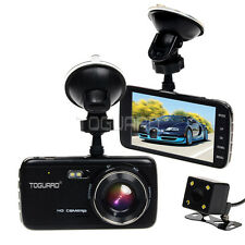 "4"" IPS Car Camera HD 1080p  G-sensor Front and Rear Dash Cam Parking Monitor"