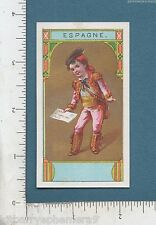 8113 Advertising trade card Spanish mailman w/ letter in hand postal service