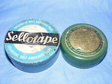Vintage Old Advertising Tin Sellotape and Cavendish Typewriter Ribbon Tins