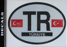 Turkey Country Flag Oval Decal