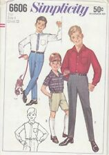 Vintage Boys Pants in Two Lengths and Shirt Sewing Pattern S6606 Size 4