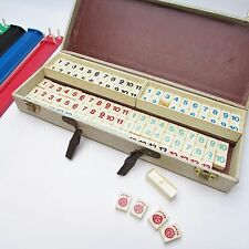 VTG Crisloid Rummy Tile Game in Tweed Case