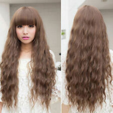 Beauty Fashion Womens Lady Long Curly Wavy Hair Full Wigs Cosplay Party FN
