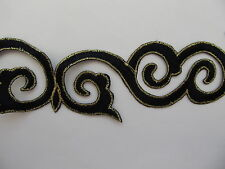 Embroidered Braid Lace Trim 4CM 40MM Iron on Sew On 5 COLOURS