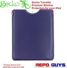 2 x GECKO Traveller Premium Slimline Protective Case iPad-iPad3 GRAPE: BRAND NEW