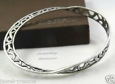 "Silpada ""Del Mar"" Bangle Bracelet Filigree .925 Sterling Silver B2783 RARE --'c"