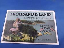 THOUSAND ISLANDS ALEXANDRIA BAY NEW YORK PICTURE BOOKLET 1000 ISLAND BOAT TOURS