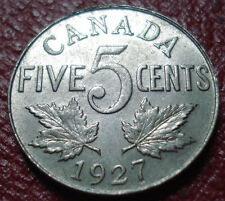 1927 CANADA 5 CENTS IN EF CONDITION