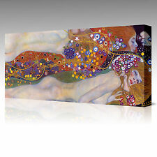 LARGE 30x20 Inch Gustav Klimt Water Serpents Friends II Framed Canvas Picture
