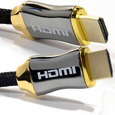 2m Braided Chrome HDMI Shielded Cable 4k 2k Supports 3D ARC Ethernet [008084]
