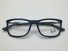NEW Authentic Ray Ban RB 7029 5260 Matte Blue/Grey 55mm RX Eyeglasses