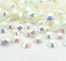 2000 Crystal Flat Back Iridescent Nail Art Face Festival Rhinestones Gems AB 3MM