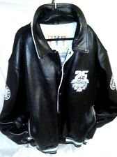 VINTAGE AVIREX Black LEATHER 25th Anniversary Bomber JACKET sz 6XL