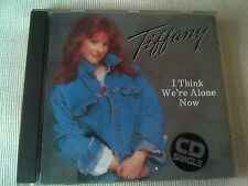 TIFFANY - I THINK WE'RE ALONE NOW - RARE 1987 UK CD SINGLE