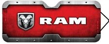 Red Dodge RAM Accordion Style Sunshade Logo Emblem Truck HEMI New Free Shipping