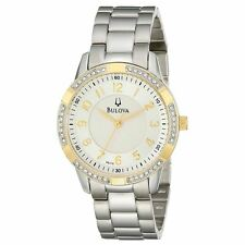 Bulova 98L176 Women's Silver Dial Steel Bracelet Crystal Watch