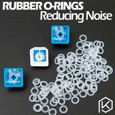 120PCS CLEAR Rubber O-Ring Damper keycap Mechanical Keyboard CHERRY MX SWITCH