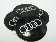 ALLOY WHEEL AUDI A2 A4 A6 RS4 RS6 A5 A8 TT Q7 CENTRE CAP BADGES 65mm 6.5cm