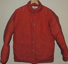 Woolrich Vintage Orange Goose Down Hunting Camping Puffer Jacket Coat Medium