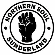 SUNDERLAND NORTHERN SOUL AUTO/FINESTRINO ADESIVO + 1 GRATUITO INTERNO/OUTSIDE
