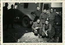 PHOTO ANCIENNE - VINTAGE SNAPSHOT - MILITAIRE CAMION FOURGON - MILITARY TRUCK