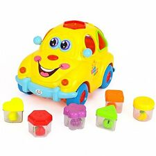 Early Education 1 Year Olds Baby Toy Fruit Car with Music/Light/Block for Childr