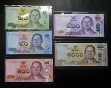Thailand Banknote 20-50-100-500-1000 Baht Series 16 Completed Set