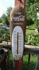 "Vintage Original 1949  Coca-Cola 30"" ""Cigar"" Thermometer- Works-Coke, Soda-LOOK!"