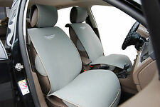 2 Front Car Seat Cover Cushions By Velour Compatible To Mitsubishi-MI 801 Gray