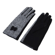 Premium Women's Winter Houndstooth Thermal Gloves with Bow - Diff Colors