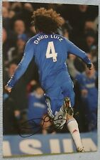 David Luiz Signed football Picture (rare) Chelsea / Brazil