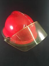 Red Cairns & Bros Firefighter helmet with visor