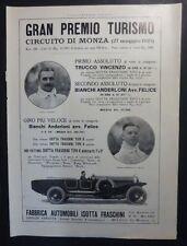 VTG ED. - G.P. AUTO MONZA 1923 - PUBBL. ISOTTA FRASCHINI