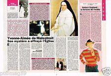 Coupure de presse Clipping 1993 (1 page 1/2) Yvonne Aimée de Malestroit