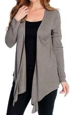 NEW - Kate & Mallory® Stretch Knit Long Sleeved Open Front Cascade Cardigan - M