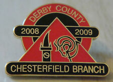 DERBY COUNTY Official 2008-09 CHESTERFIELD BRANCH SUPPORTERS CLUB 21mm x 15mm