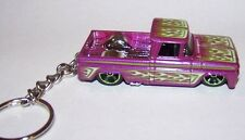 "CUSTOM MADE..1962 CHEVY TRUCK CUSTOM ""PURPLE/FLAMES"" KEYCHAIN..GREAT GIFT!"
