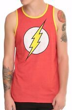 The FLASH Tank Top T-shirt Distressed Logo Vest Mens XL Heather Red New